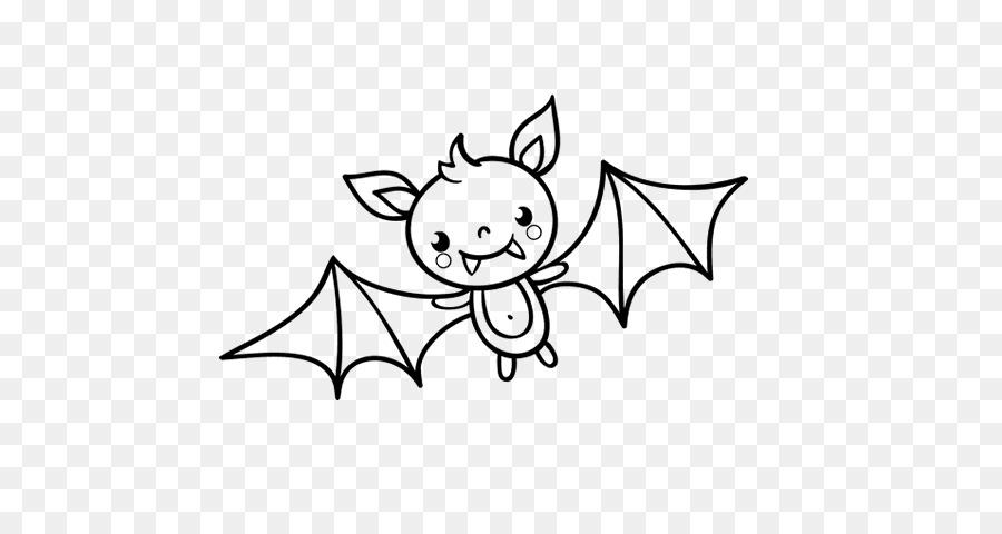 Murciélago de Halloween Dibujo para Colorear libro Patrón - bate png ...