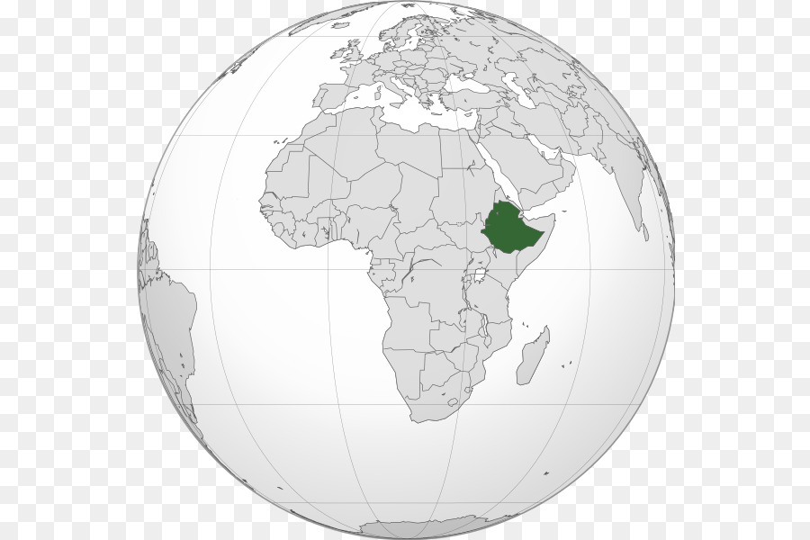 Ethiopian Empire Addis Ababa World map Amharic - map png download ...