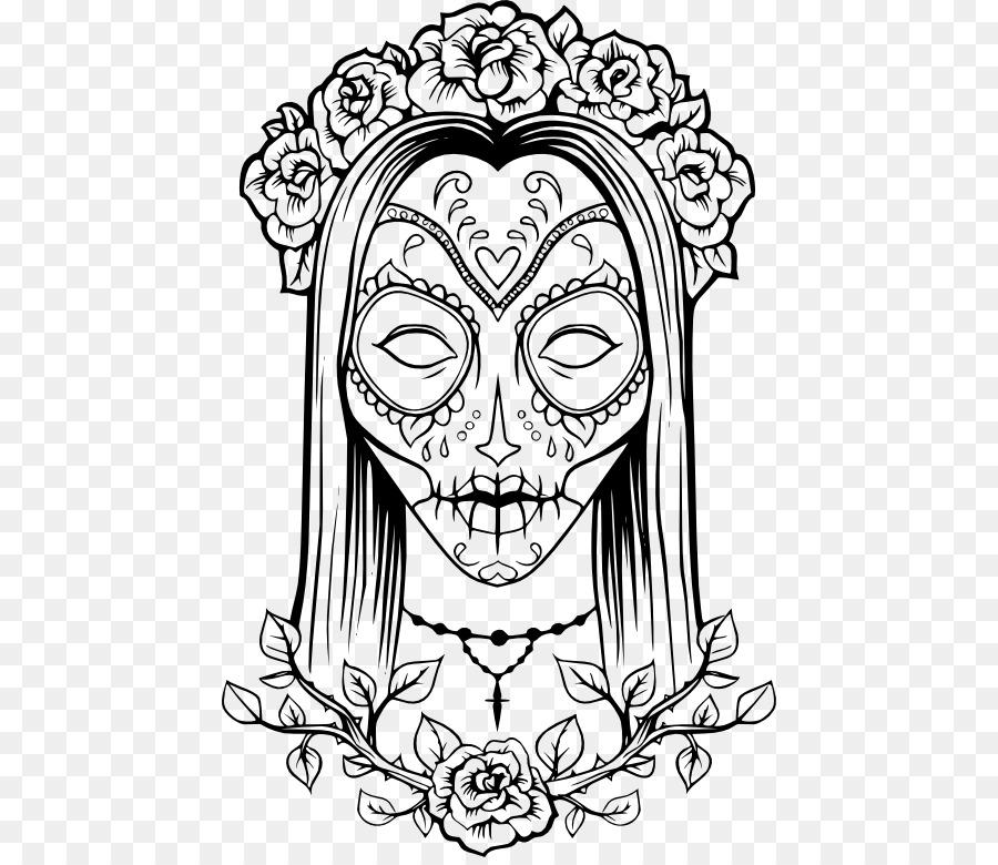 Calavera libro para Colorear Día de los Muertos Adultos Cráneo ...