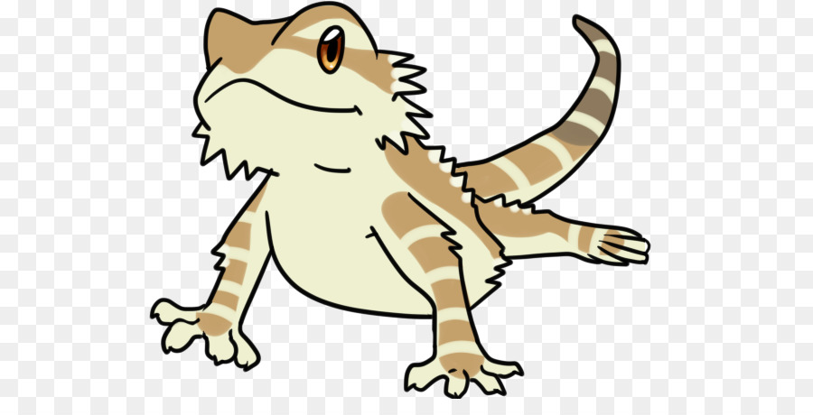 Lagarto Dragón Barbudo Dibujo de Reptiles Clip art - lagarto ...