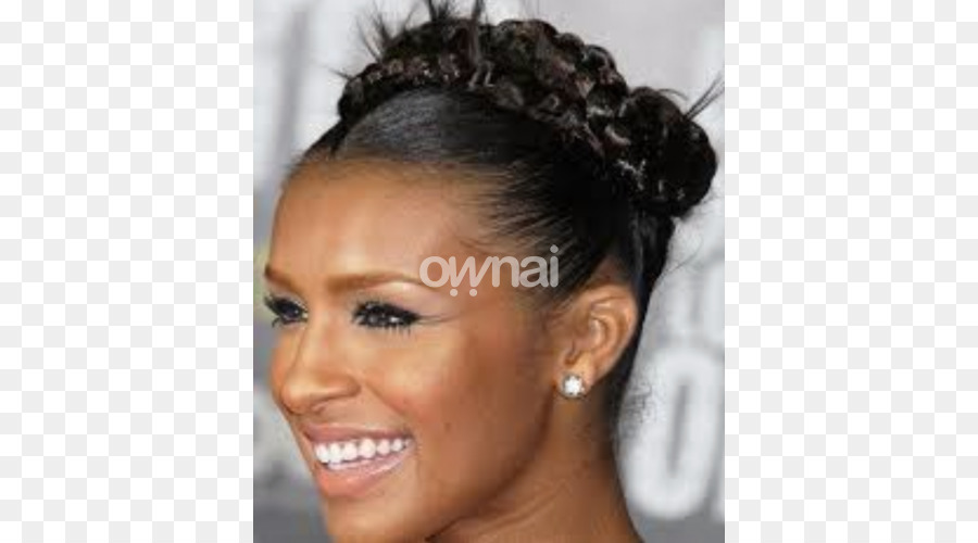 French Braid Bun Updo Hairstyle Bun Png Download 740500 Free