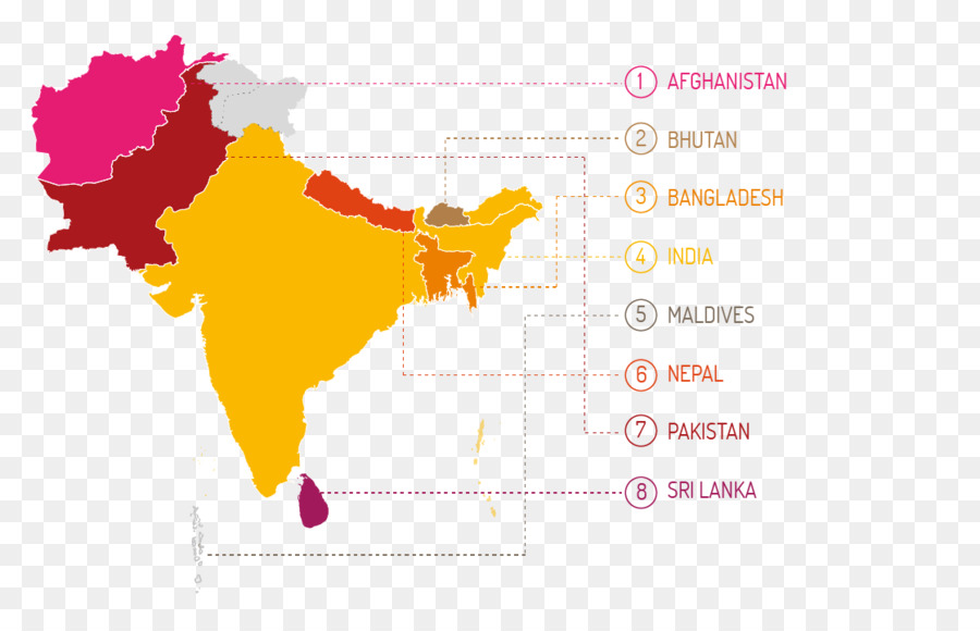 South Asia World Map.South Asia The World Factbook Map Child Marriage Map Png Download