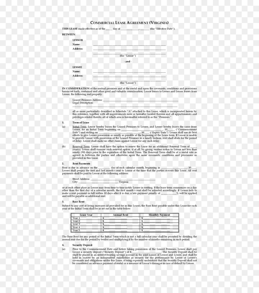 Net Lease Rental Agreement Contract Renting Apartment Png Download