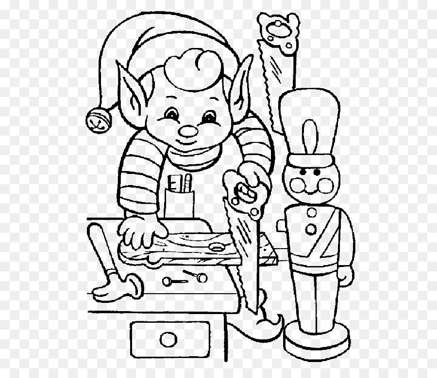 Santa Claus Christmas elf Coloring book - santa claus png download ...