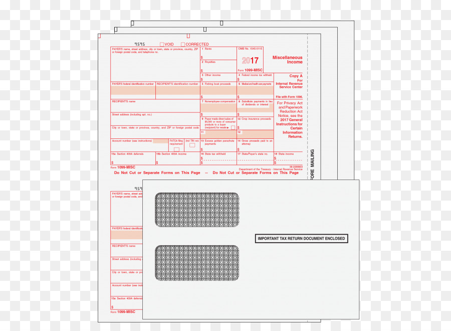 Paper Form 1099 Misc Form W 2 Irs Tax Forms Others Png Download