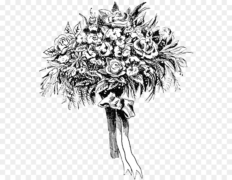 flower bouquet drawing rose clip art flower png download 604 700
