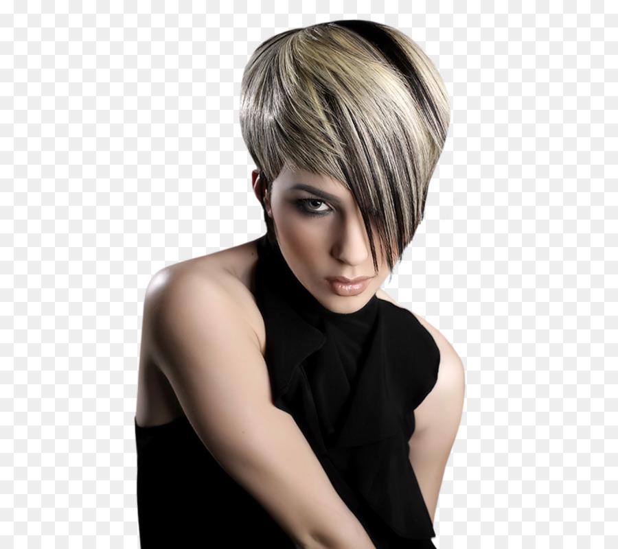 Frisur Menschliches Haar Farbe Pixie Cut Blond Haar Png
