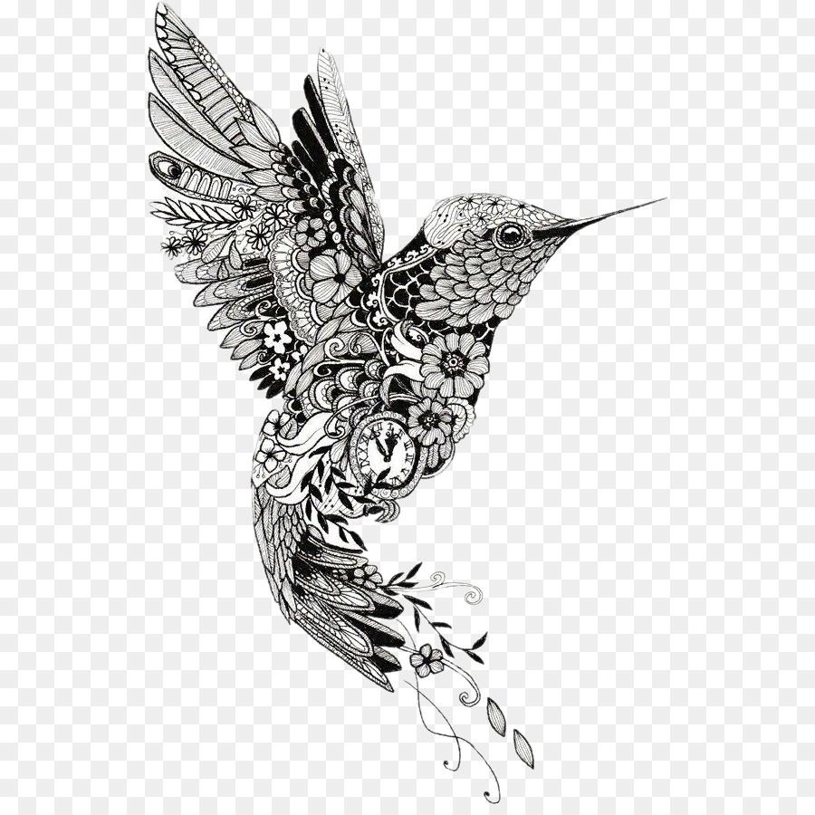Colibrí Mehndi Tatuaje Mandala De Henna - Aves png dibujo ...