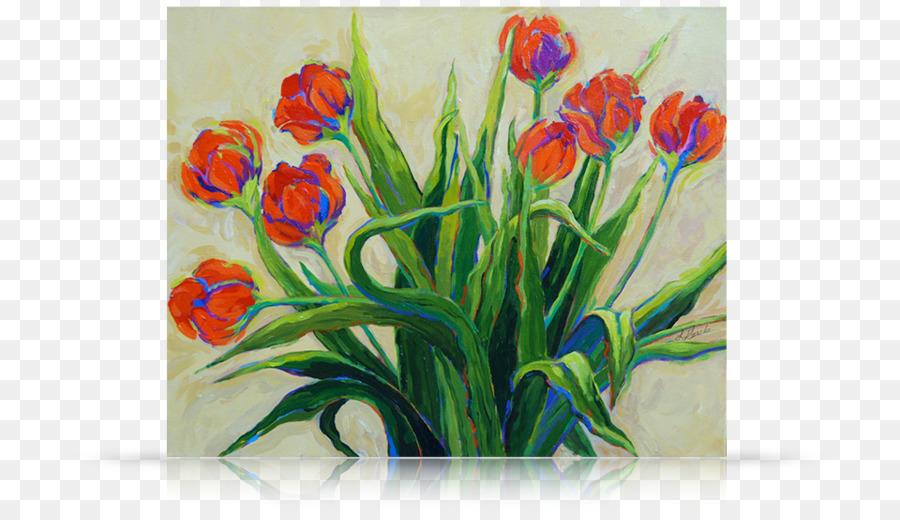 çiçek Tasarımı Hala Hayat Akrilik Boya Kesme çiçek Lale Lale Png