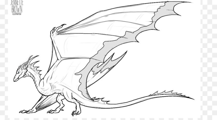 Dragon Line Art Drawing Wyvern Sketch Dragon Png Download 1024