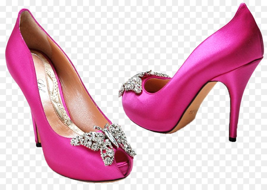 Zapato de vestir de color Fucsia de tacón Alto zapato de Corte del ...