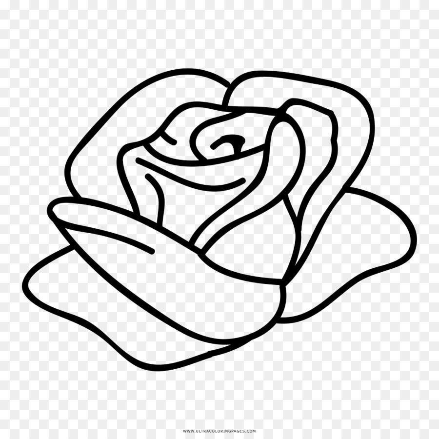 El papel de la Rosa de la Plantilla de libro para Colorear de Flores ...