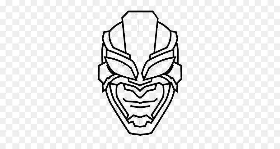 Superhéroe De Dibujo De La Máscara De Pantera Negra - héroe png ...