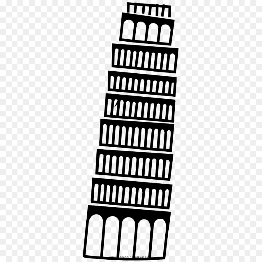 Pisa Kulesi Boyama Kitabı Boyama çizim Diğerleri Png Indir 1000