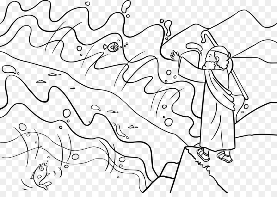 El cruce del Mar Rojo Plagas de Egipto Libro del Éxodo de la Biblia ...