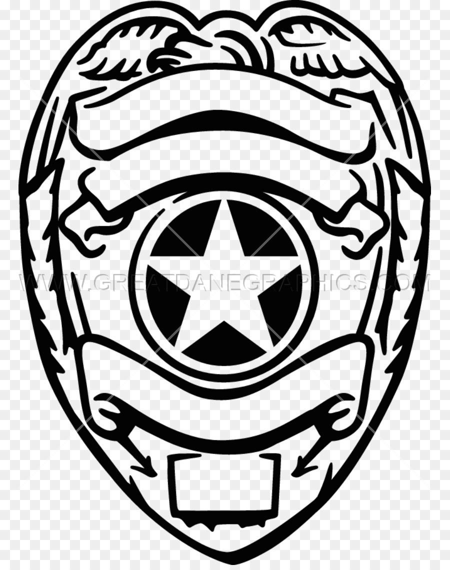 La insignia de oficial de la Policía de libro para Colorear de ...