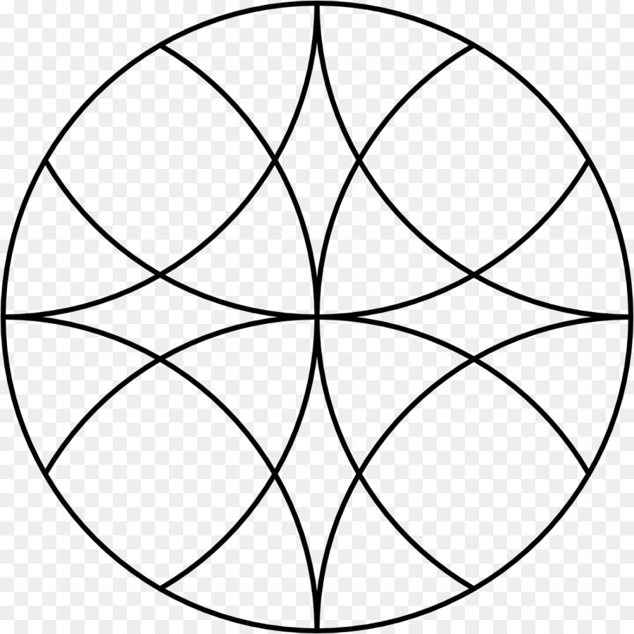 mandala template overlapping circles grid pattern flowral arc png