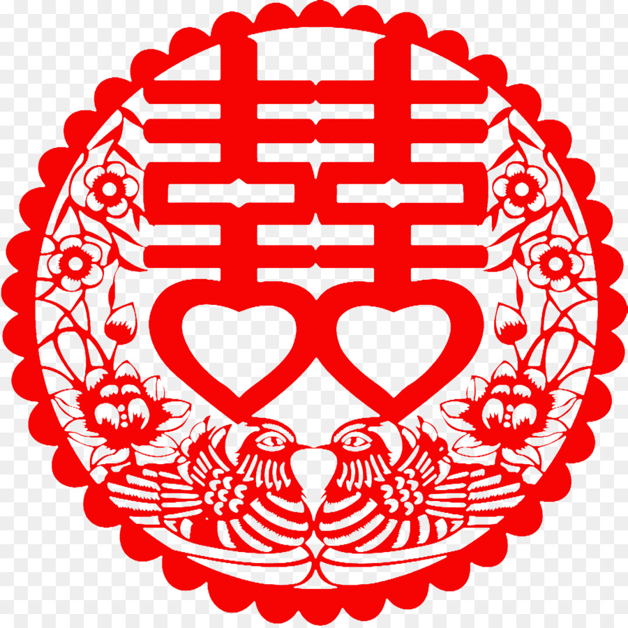 Double Happiness Symbol Feng Shui Luck Chinese Marriage Symbol Png