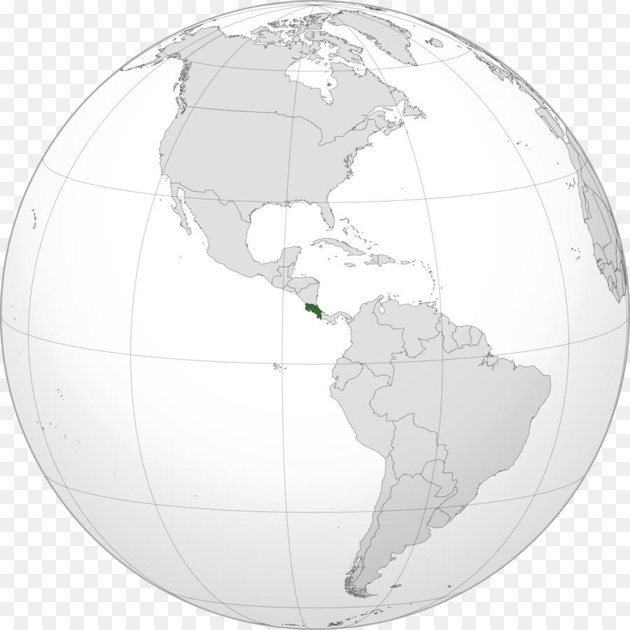 World Map Costa Rica Panama City Nicaragua World Map Png Download