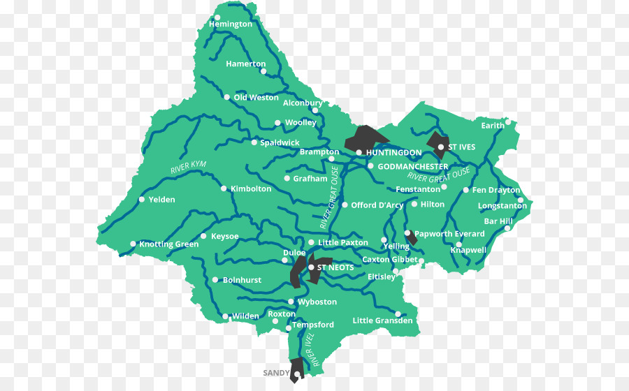River Great Ouse Drainage basin Catchment area Earith - St Ivel png ...
