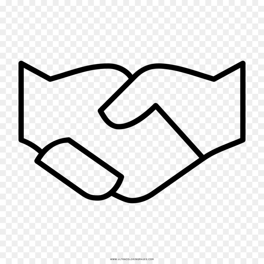 Coloring Book Drawing Handshake Hand Draw Png Download 1000 1000