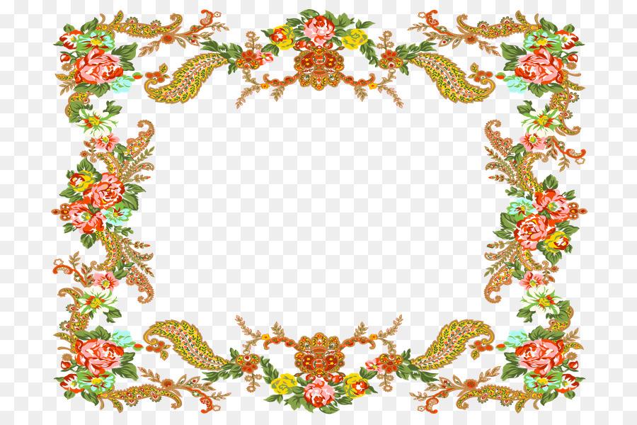 Picture Frames Template - Marco de flores png download - 800*600 ...