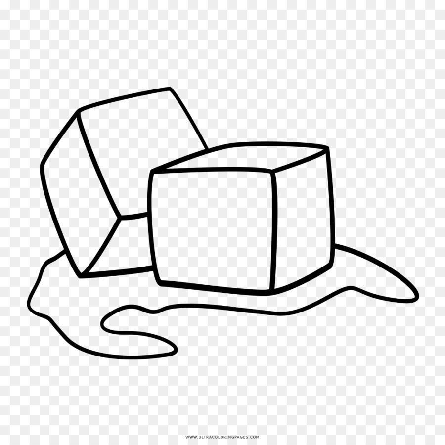 Cubo de hielo Dibujo para Colorear libro - hielo png dibujo ...