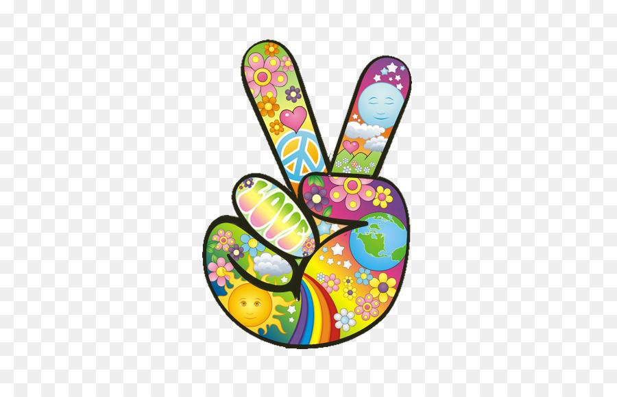 1960s Peace Symbols Hippie Flower Power Symbol Png Download 720