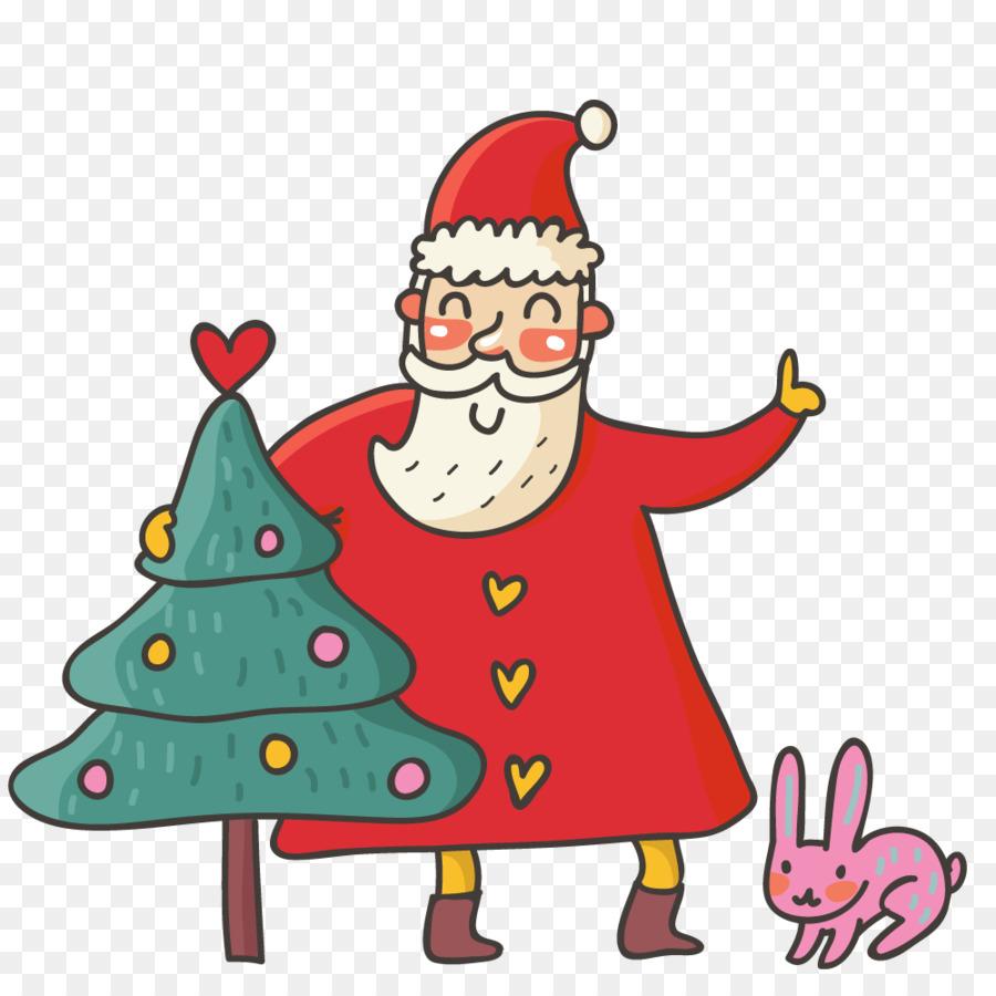 Santa Claus Christmas card Cartoon - santa claus png download - 1000 ...