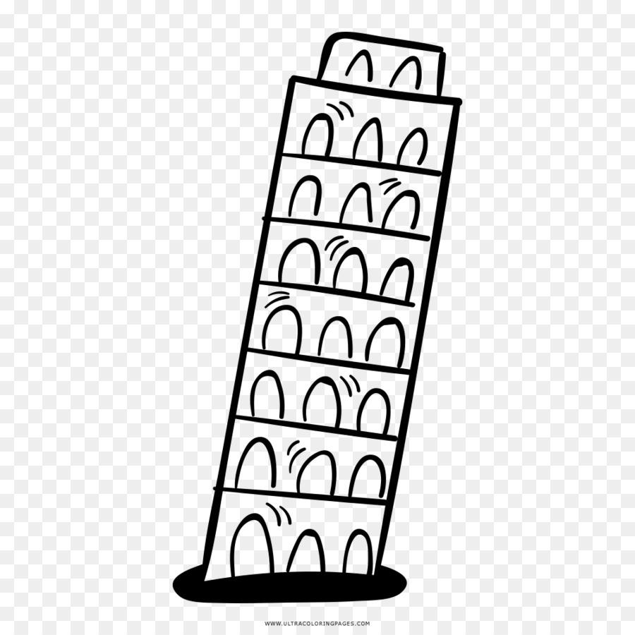 Pisa Kulesi Boyama Kitabı çizim Pisa Kulesi Png Indir 10001000