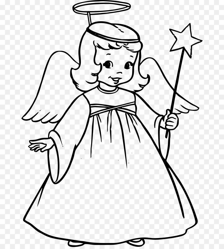 Libro para colorear ángel Gabriel Niño - Ángel png dibujo ...