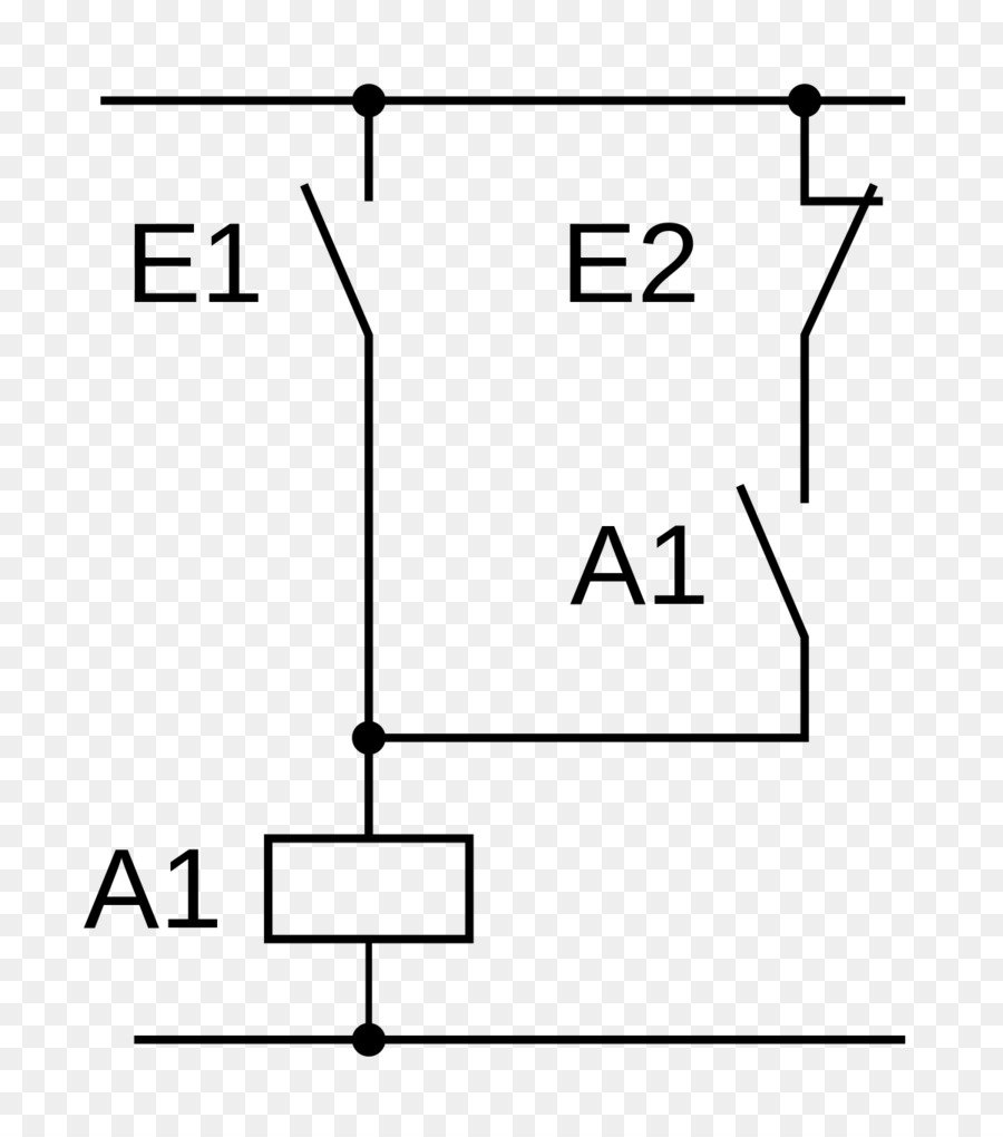 Circuit diagram Ladder logic Open-loop controller Wiring diagram Relay -  Ladder Element