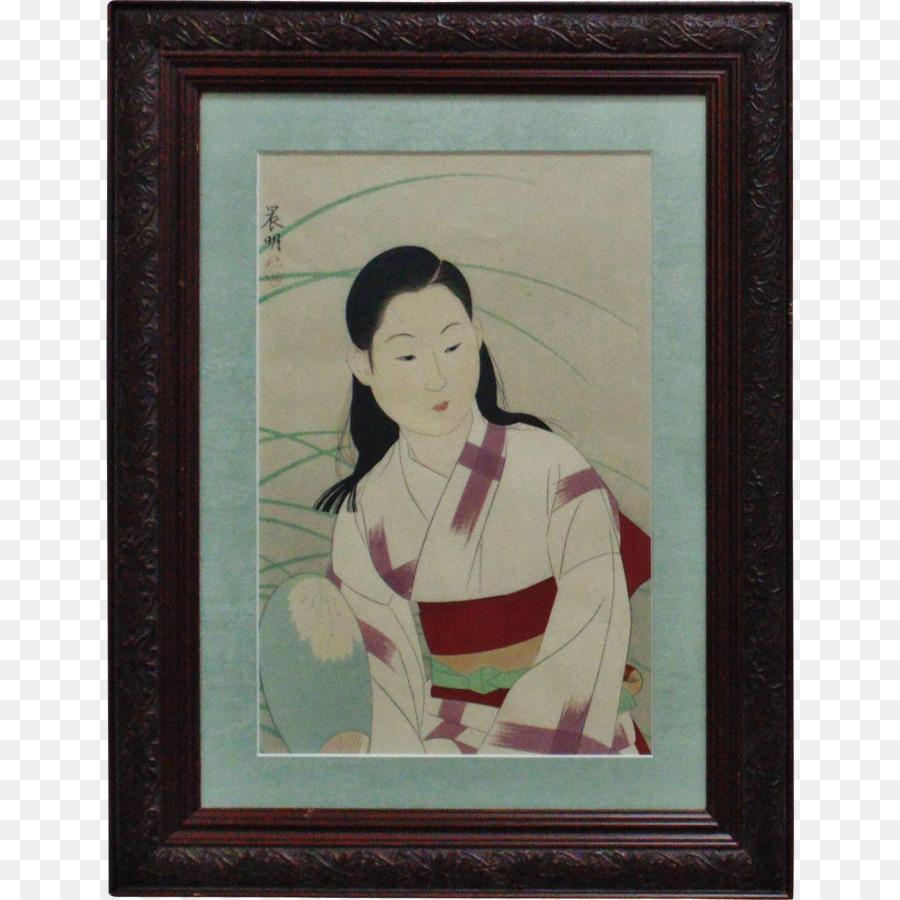 Arte moderno Marcos para fotos de Retrato Geisha - pintura Formatos ...