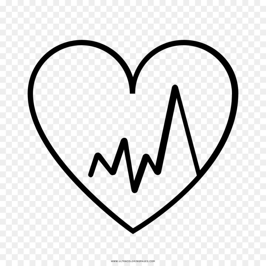 El Ritmo cardíaco cardíaco Dibujo para Colorear libro - corazón png ...