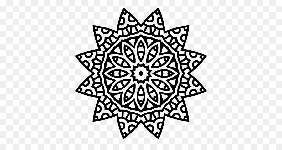 Mandala libro para Colorear Dibujo de la Estrella - corazón mandala ...