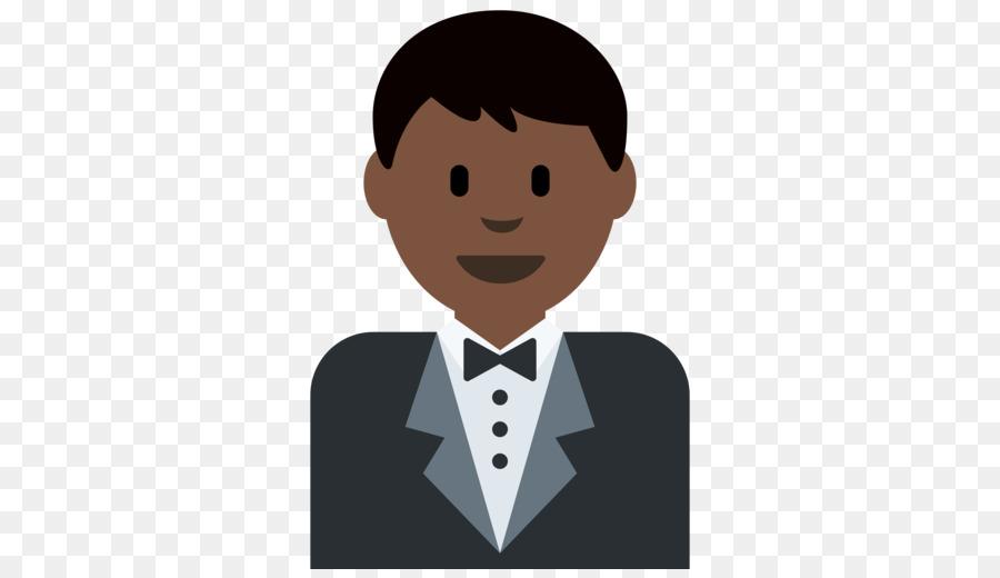 emoji domain tuxedo man dark skin emoji png download 512 512