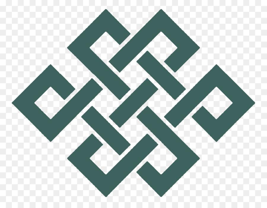 Endless Knot Buddhist Symbolism Karma Buddhism Symbol Png Download