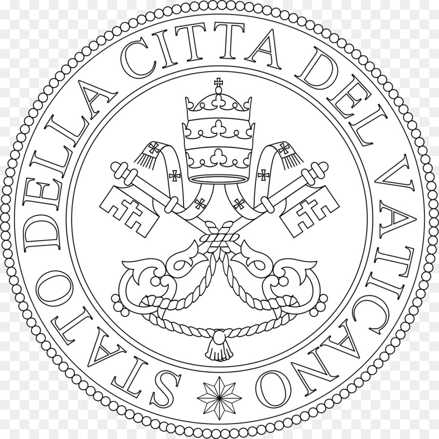 Holy See Line Art png download - 1024*1024 - Free Transparent Holy