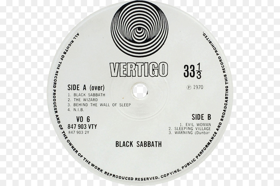 Vertigo Records Paranoid Black Sabbath LP record Framed - others png ...