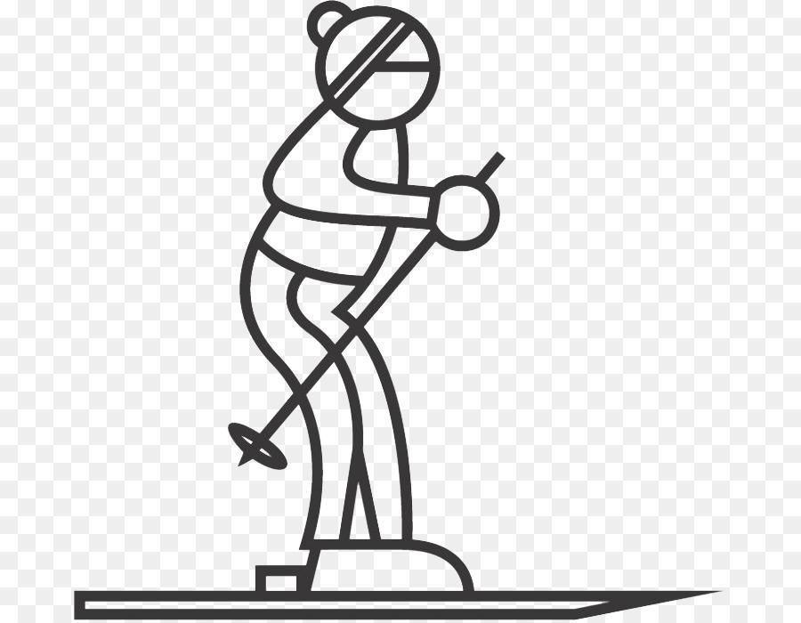 Sci Disegno Da Colorare Sport Invernali Sci Scaricare Png
