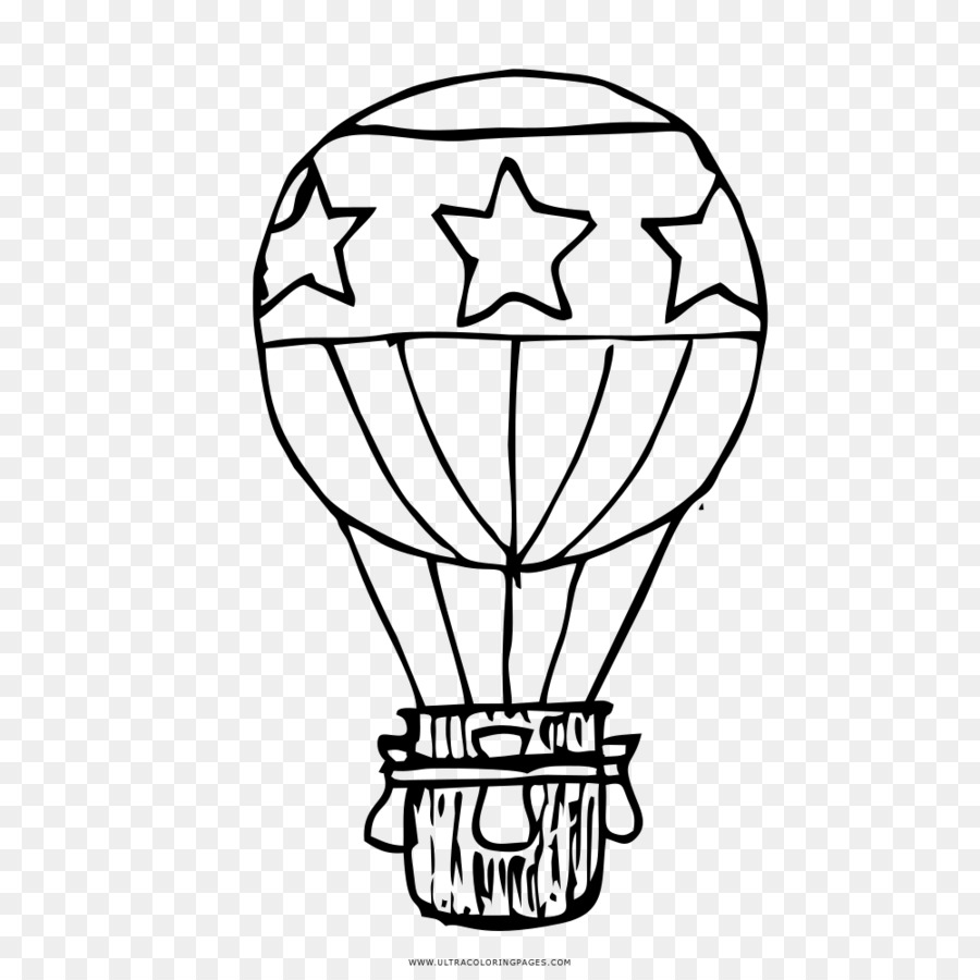 Globo de aire caliente Dibujo para Colorear libro Aerostato - globo ...