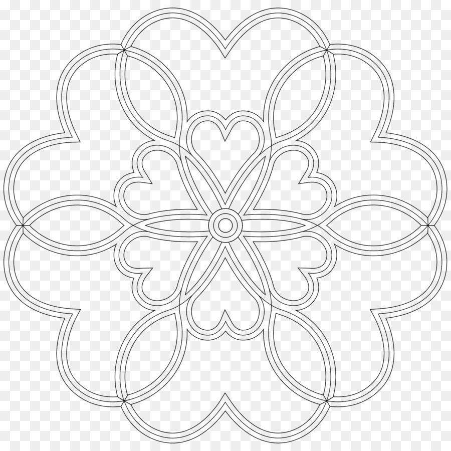 Mandala libro para Colorear en Línea de arte en blanco y Negro ...