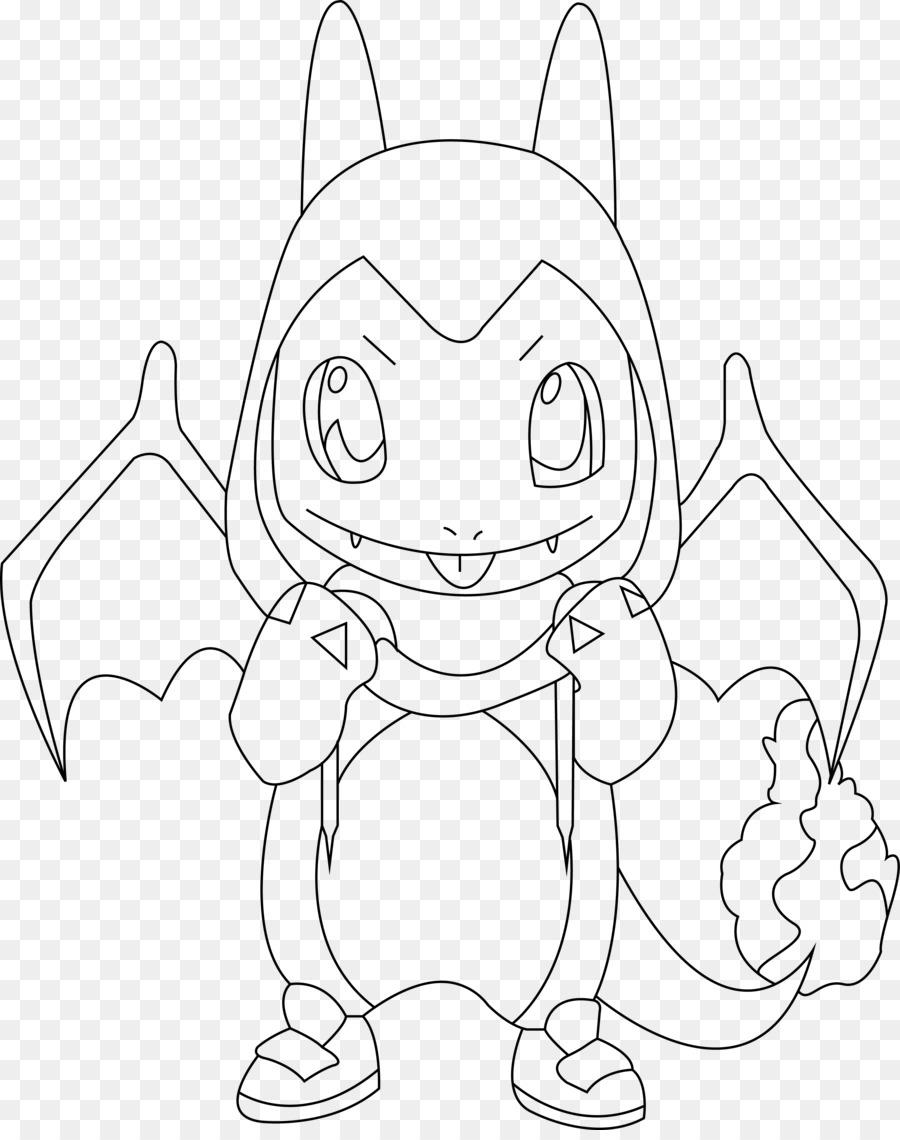 Línea de Dibujo artístico de Charmander Squirtle Charizard - pokemon ...