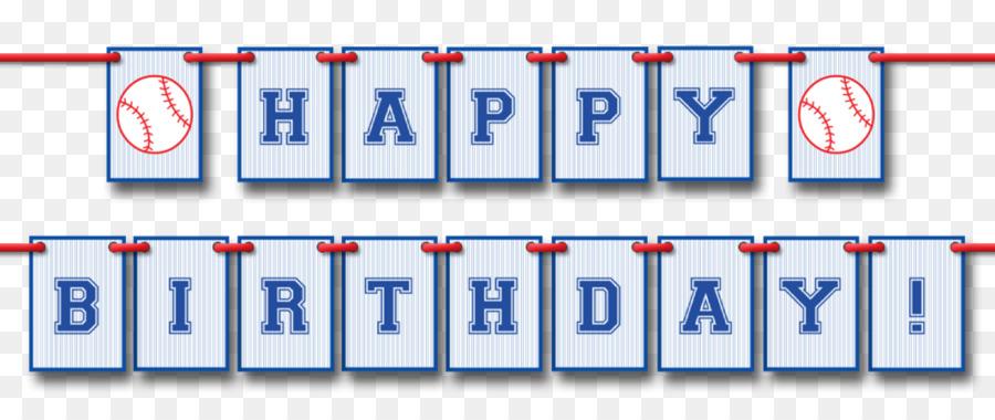 Banner Birthday Baseball Pennon Pennant