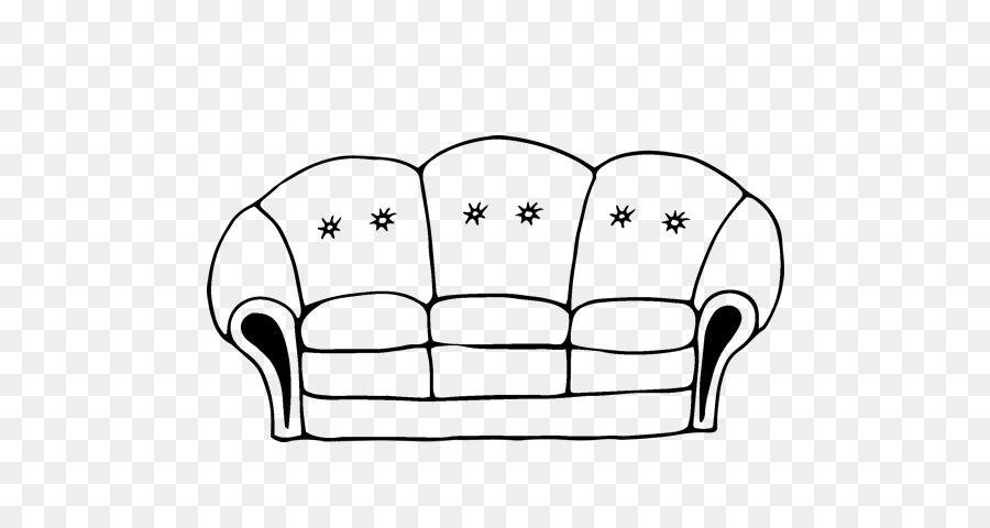 Couch Furniture Drawing Living room Coloring book - house png ...