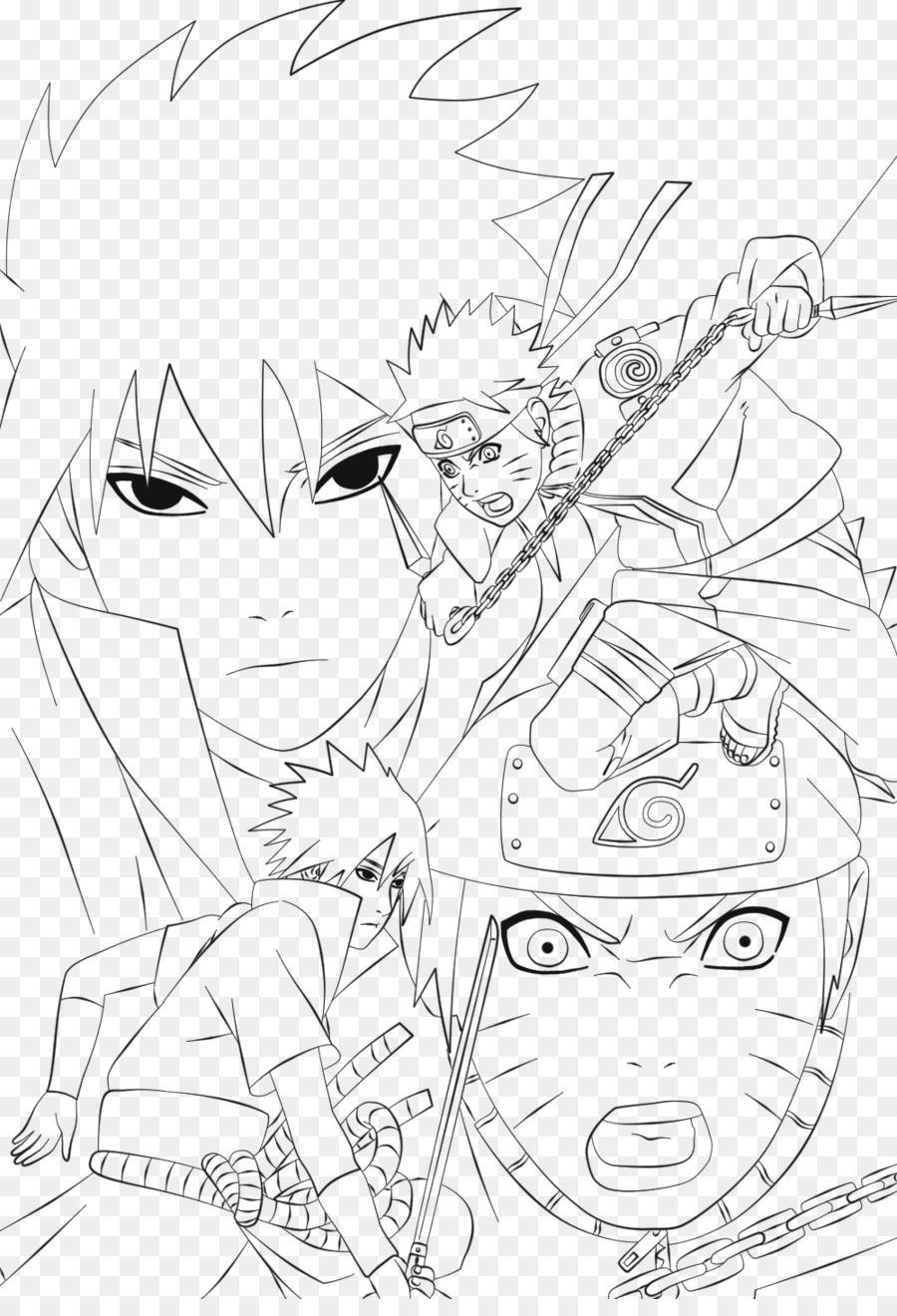 Sasuke Uchiha Art En Ligne Naruto En Noir Et Blanc De Gaara Naruto