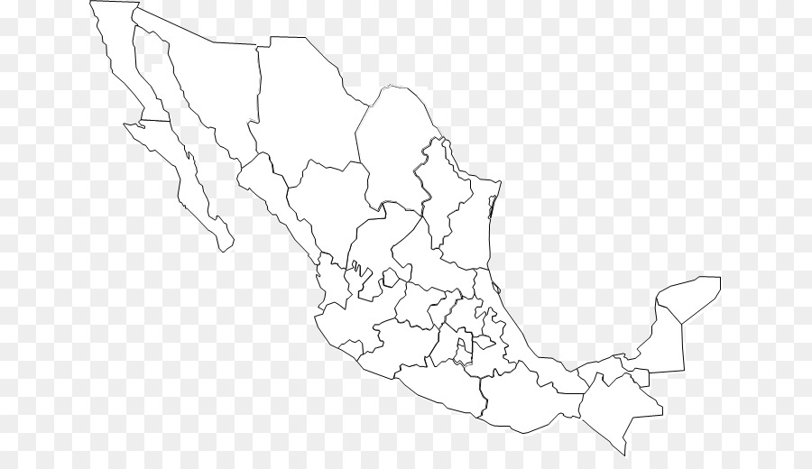 United States Blank map Mexico City map - united states png download ...