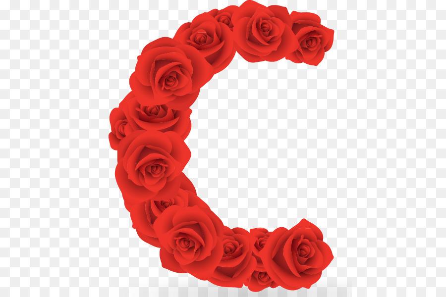 Les Roses De Jardin Anglais Alphabet Peinture A L Aquarelle Rose