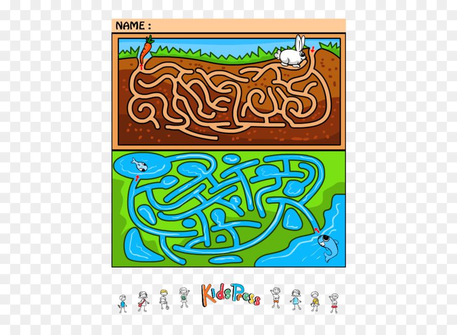 Maze Runner Cartoon Font Maze Game Png Download 500647 Free