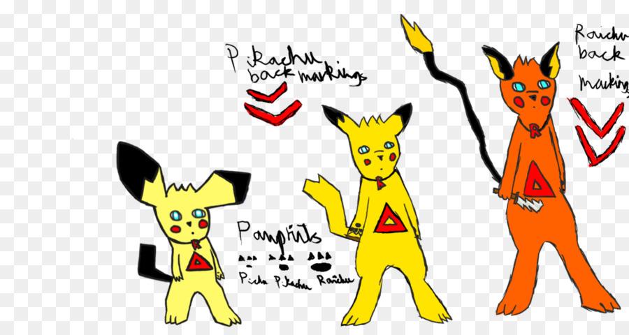 Pikachu Línea evolutiva de Pichu Raichu Pokemon - pikachu png dibujo ...
